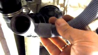Как снять сливной шланг стиральной машины
