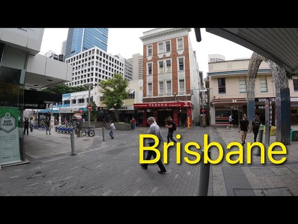 Walking around brisbane city australia