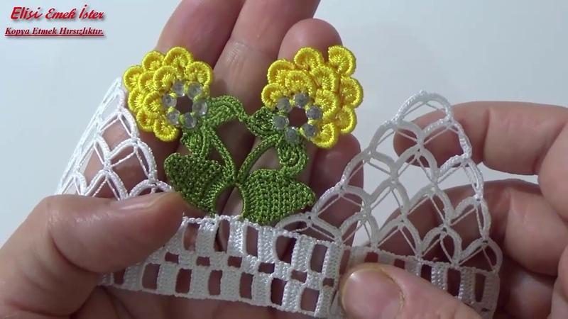 Çok Sevilen Fıstık Oyası İle Havlu Kenarı Modeli Yaptım