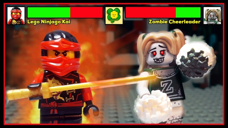Lego Ninjago Kai Vs Zombie Cheerleader With Healthbars