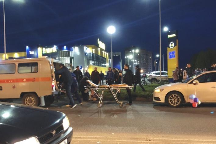 Автоледи сбила ребёнка в Брагино у Ленты