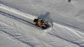 Sunny day snow plow