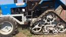 Испытание целиной трактора Беларус-80.1 на полугусеничном ходу от трактора ДТ-75