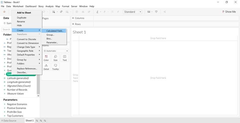 Как создать представление и провести анализ «что - если» с помощью элемента Set Control в Tableau 2020.2, изображение №7