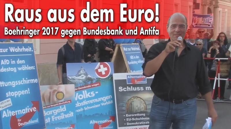EZB und Antifa versus AfD und Ratio: Demo Regensburg 4.7.2017