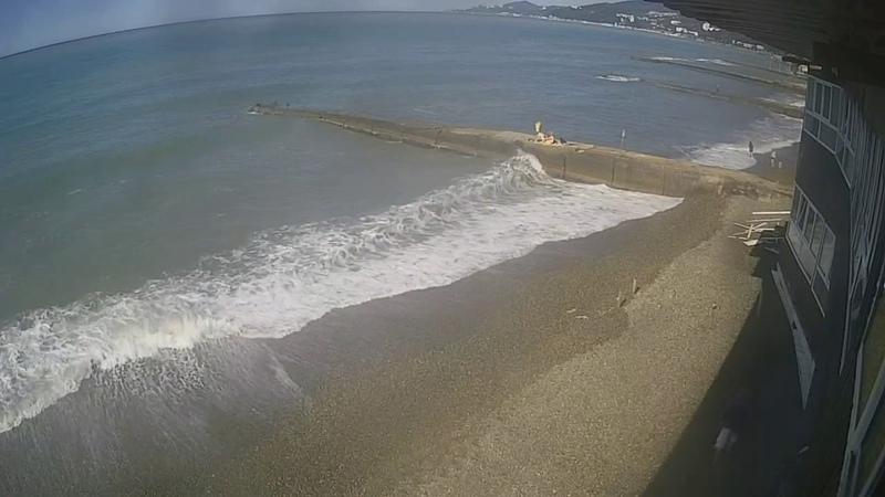 Веб камера , пляж Адлер Октябрь часть 15