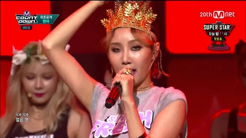 HyunA feat. Hwasa of Mamamoo in M Countdown (8202015)