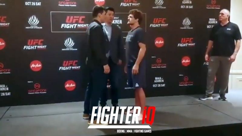 DEMIAN MAIA VS BEN ASKREN FACE OFF FOR UFC FIGHT NIGHT 162 IN SINGAPORE!