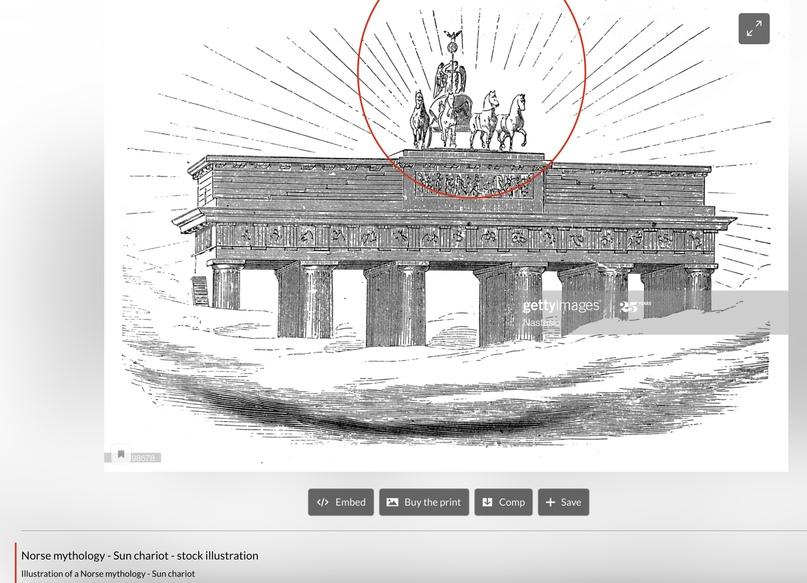 Illustration of a Norse mythology - Sun chariot
