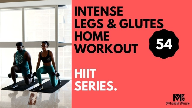 INTENSE DUMBBELL LEGS GLUTES WORKOUT AT HOME 10 MIN HIIT MR AND MRS MUSCLE No 54