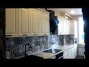 Кухня с черными ручками. Большой проект.