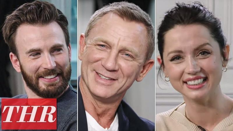 Chris Evans Daniel Craig Ana de Armas More Knives Out Cast Play Fishing for Answers TIFF