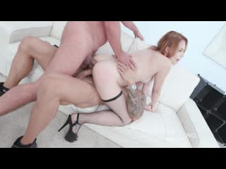 2on1 dp red linx finally gets a real dp with real dicks balls deep anal, gapes, rough sex, swallow gl067