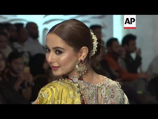 Designers Sania Maskatiya Khadija Shah and Misha Lakhani display collections at Karachi fashion wee