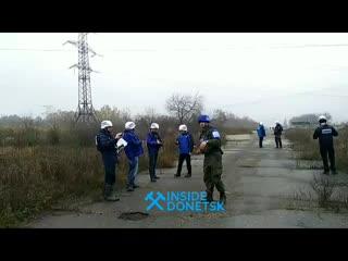 Запуск белой ракеты в ЛНР