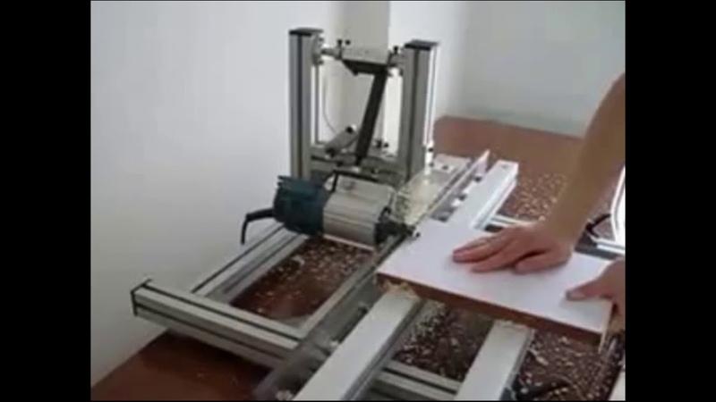 SETM 1 Станок для фрезерования свесов ПВХ кромки на мебельных щитах