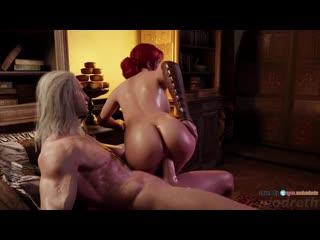 The witcher 3 triss 3d porn r34