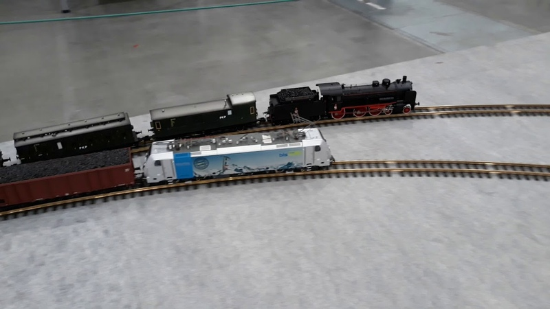 Targi Łódź wyścig epok Ok1 i Traxx E186 109 Spur 1 1 32