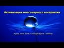 Активизация многомерного восприятия человека Часть 2 Геннадий Брага вебинар