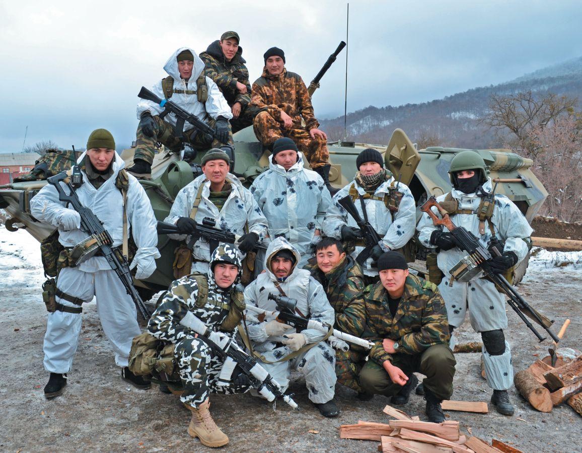 Подразделение якутского ОМОН, в январе 2000 стоявшего в Шали