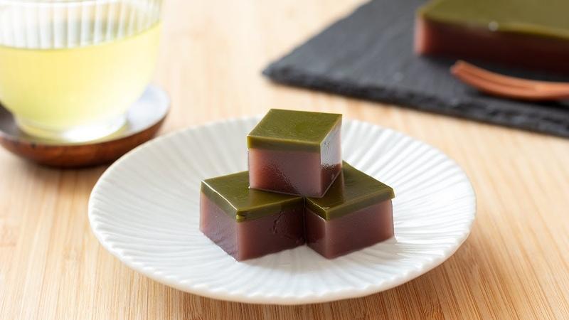水ようかんの作り方 抹茶 しあん Wagashi Mizu Yokan jelly HidaMari Cooking