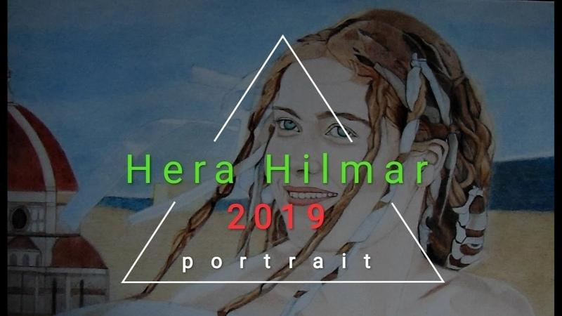Рисую Геру Хилмар из сериала Демоны Да Винчи Drawing Hera Hilmar from Da Vinci's Demons