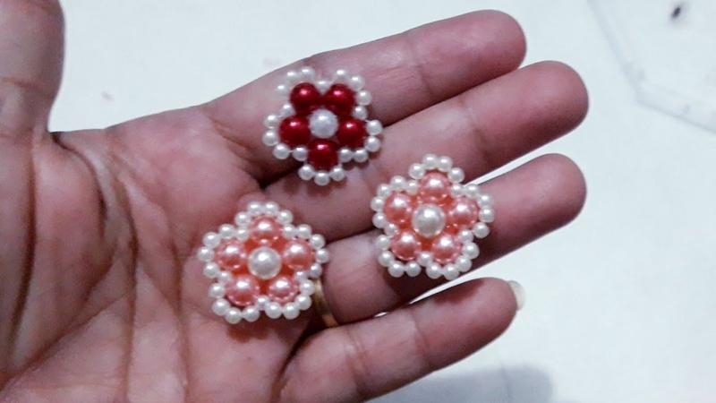 Chatons de pérolas tipo florzinha para miolos e tiaras