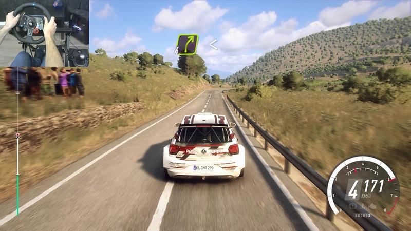 Dirt Rally 2 Volkswagen Polo GTI R5 Spain Vinedos Dardenya Inversa Logitech g29 Transmission 4k
