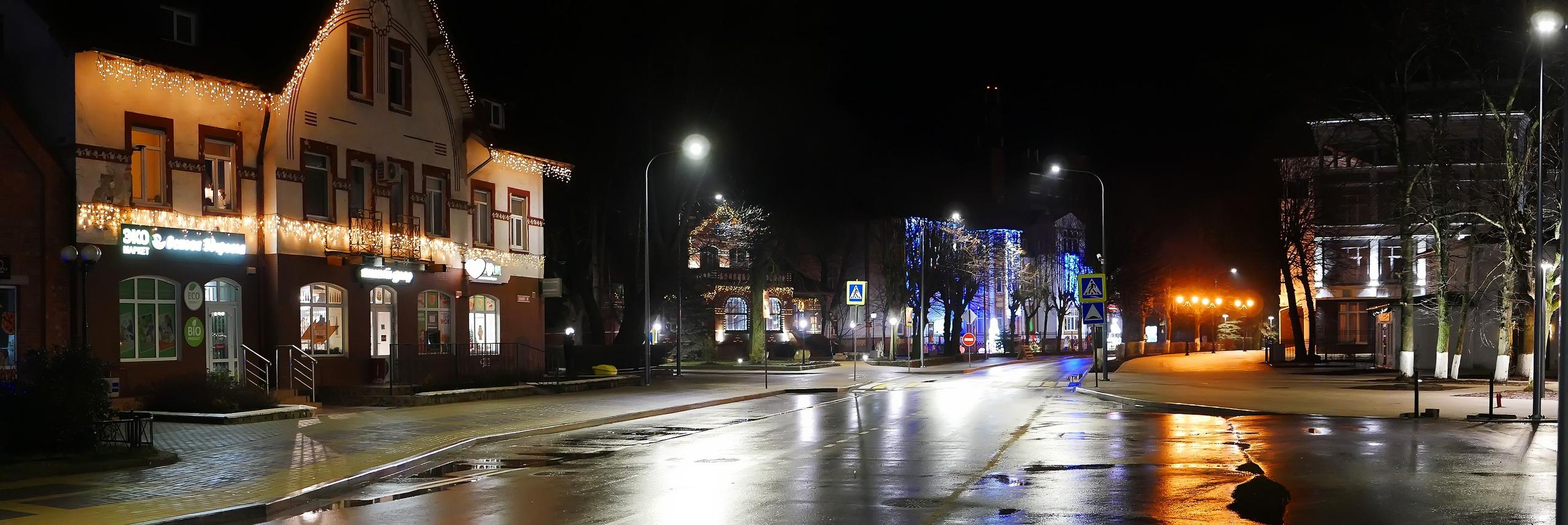 Центр Зеленоградска 23 декабря 2019