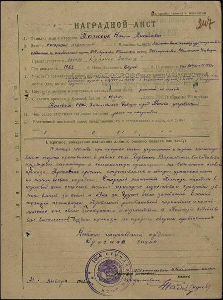 Герой Советского Союза Полюсук Н.М., изображение №4