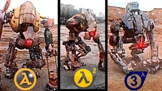 Half-Life: Alyx vs Half-Life 2 vs. Half-life 3 | Direct Comparison ( EVOLUTION OF THE DOG )