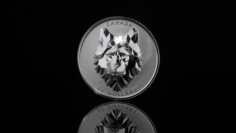 SOLD OUT! 1 oz. Pure Silver Extraordinarily-High Relief Coin - Multifaceted Animal Head: Wolf