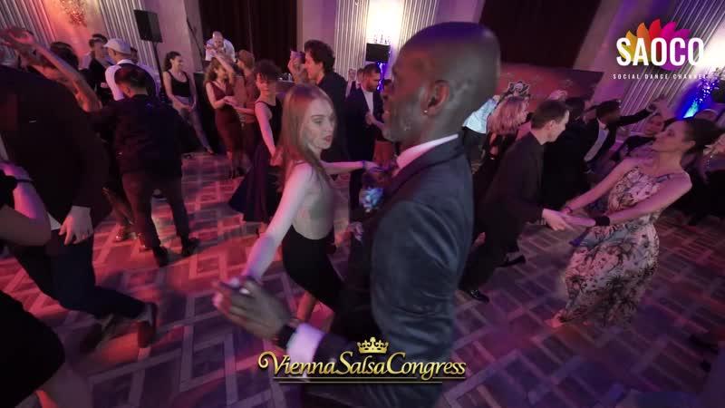 Olu Kongi and Agnieszka Pawińska Salsa Dancing at Vienna Salsa Congress 2019, Saturday 07.12.2019