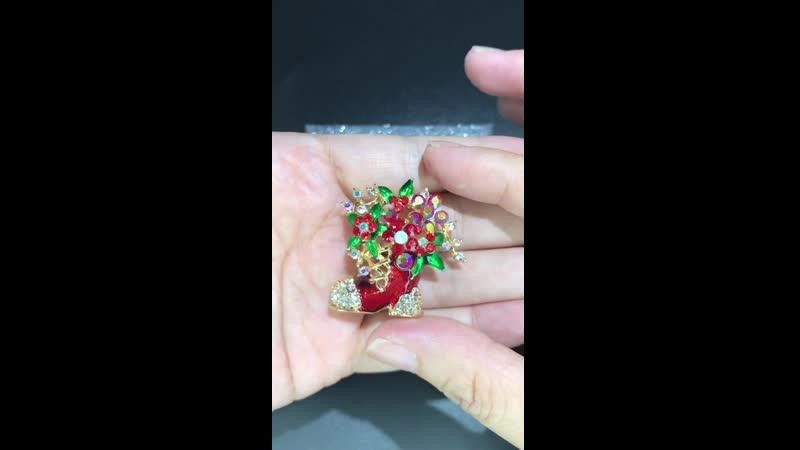 Wuli baby классические эмалированные рождественские сапоги