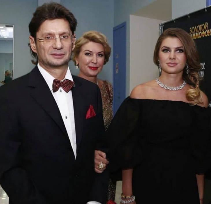 Леонид Федун с женой и дочерью Екатериной