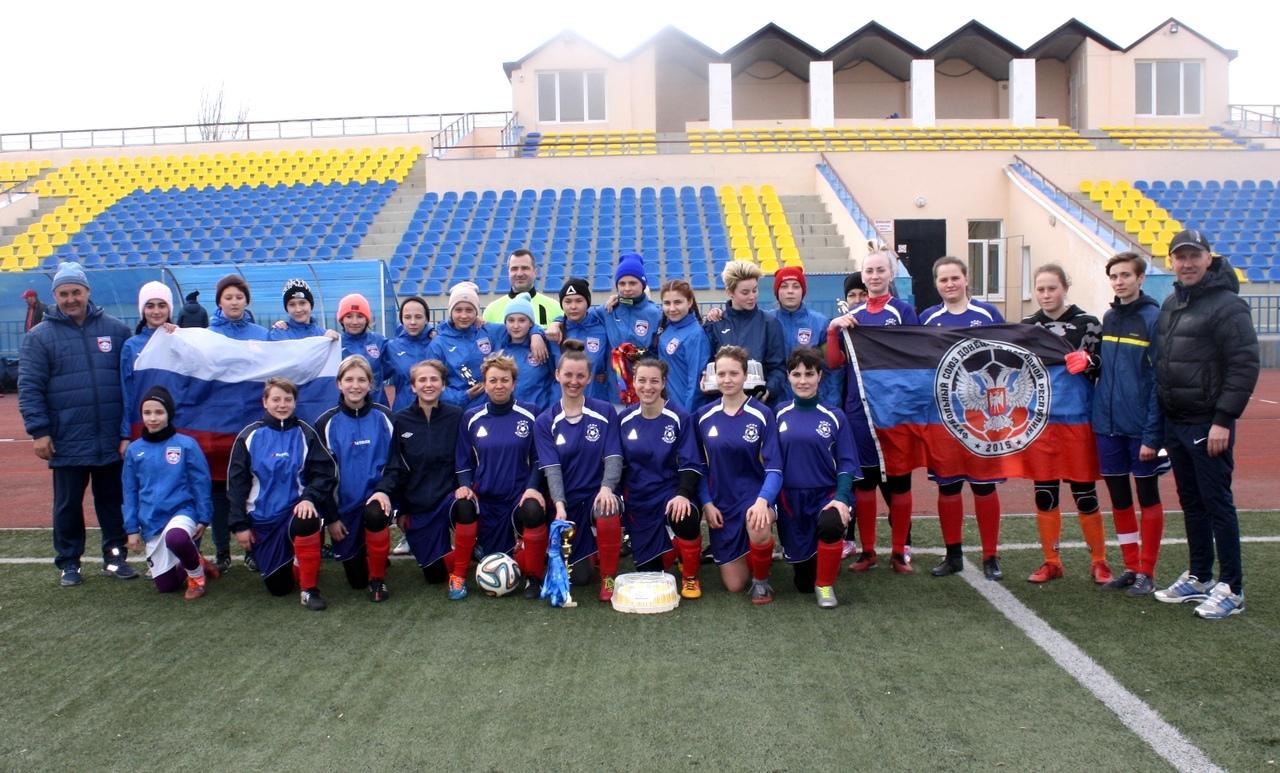 Сборная команда города Донецка по женскому футболу стала финалистом и серебряным призёром открытого кубка Ростовской области