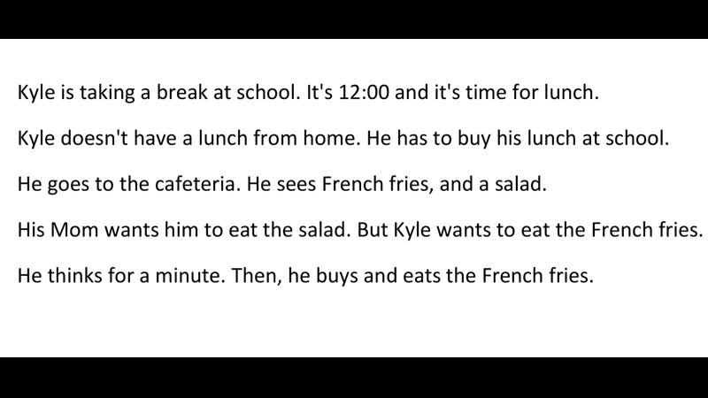 Mini Stories | Story 19 - Kyle is Taking a Break at School | 19 Q
