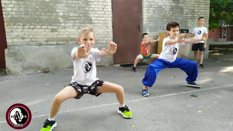 Летние детские тренировки по ушу в клубе Юньшоу Таганрог