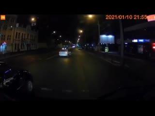 ДТП в Гомеле, 10 января. Такси  столкнулось с ГАИ