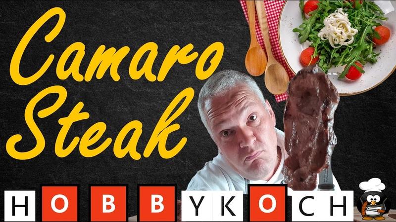 Camaro Steak grillen BIERSTEAK Rezept mit Bier Senf Marinade