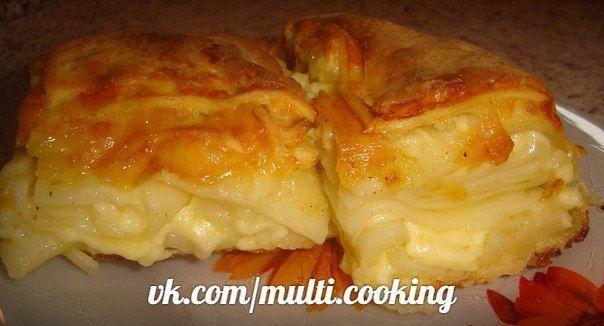 Ачма - грузинский пирог с сыром в мультиварке.
