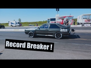 1150 WHP Audi UR Quattro Racing At Kjula Raceway breaking the Swedish Audi 4wd Record