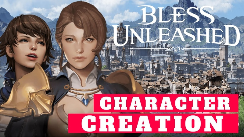 BLESS UNLEASHED PC - Character Creation Preview Gameplay! (NEW F2P MMORPG 2021 PCPS4XBOX Video)