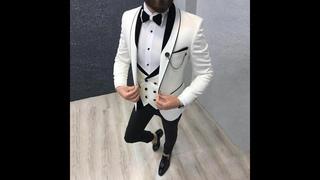 Последний дизайн пальто брюки белые мужские свадебные костюмы костюм мужской блейзер жениха смокинг приталенный костюм pour
