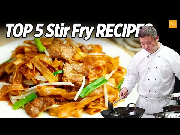 Top 5 Stir Fry Recipes by Chinese Masterchef Cooking Chinese Food Taste Show