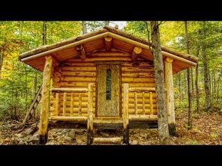 A Front Porch on the Bathhouse | Log Cabin Sauna Build