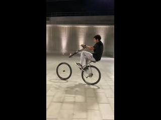 Безумный трюк с великами