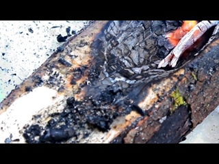 Огненная лесная посуда - Making a Burn Bowl (1)