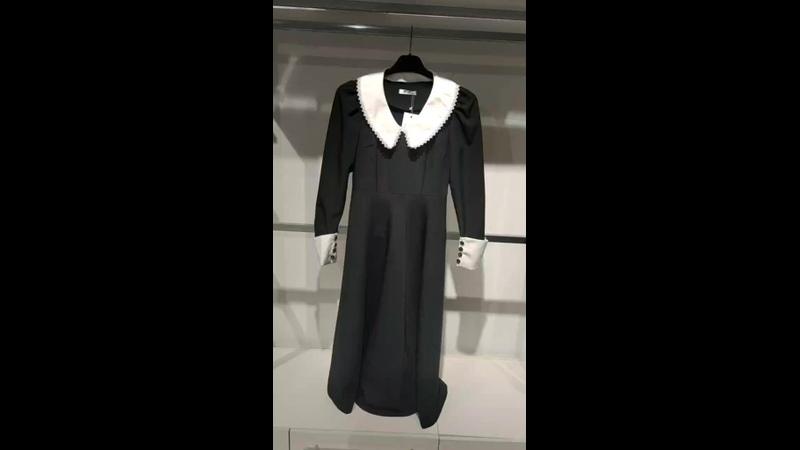 платье белый воротничок и манжеты