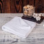 Махровое полотенце (Белое, повышенной плотности, 40х70)